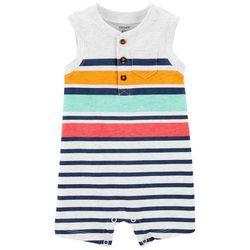 Carters Baby Boys Striped Sleeveless Romper