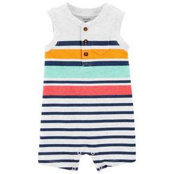 Baby Boys Striped Sleeveless Romper