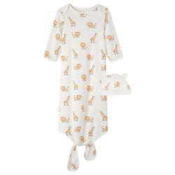 Little Me Baby Boys Lion Sleep Gown & Beanie Set