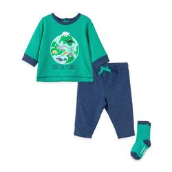 Little Me Baby Boys 3-pc. Save The Planet Jogger Set