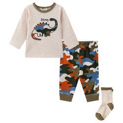 Little Me Baby Boys 3-pc. Roar Dinosaur Jogger Set