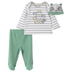 Little Me Baby Boys 3-pc. Woodland Pajama Set