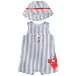 Baby Boys 2-pc. Crab Sunsuit Set