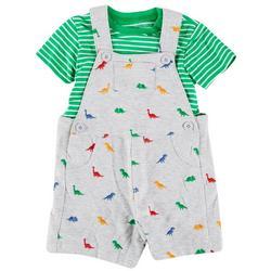 Baby Boys 2-pc. Dino Shortall Set