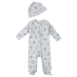 Baby Boys 2-pc. Bear Long Sleeve Sleeper Set