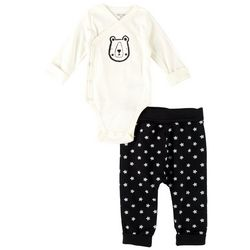 Focus Baby Boys 2-pc. Bear Long Sleeve Bodysuit Set