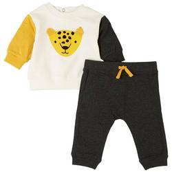 Baby Boys 2-pc. Leopard Pant Set
