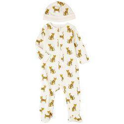 Focus Baby Boys 2-pc. Leopard Long Sleeve Sleeper Set