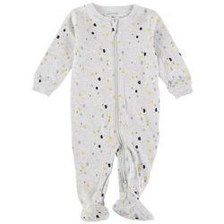 Petit Lem Baby Boys Heathered Polka Dot Sleeper