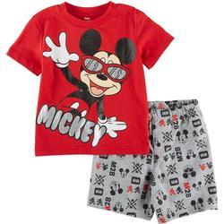 Baby Boys 2-pc. Mickey M28 Short Set