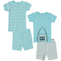 Baby Boys 4-pc. Shark Pajama Set