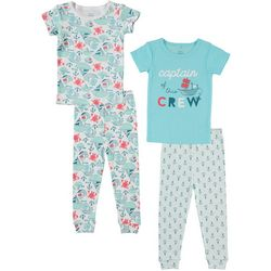 Cutie Pie Baby Baby Boys 4-pc. Captain Pajama Set