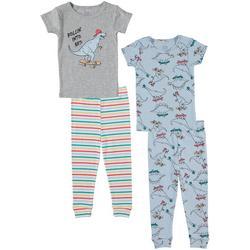 Baby Boys 4-pc. Dino Pajama Set