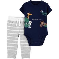 Baby Boys 2-pc. Wild Little One Pant Set