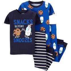 Carters Baby Boys 4-pc. Snacks Before Snoozes Pajama Set