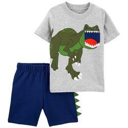 Carters Baby Boys 2-pc. Dino Roar Short Set