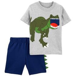Baby Boys 2-pc. Dino Roar Short Set