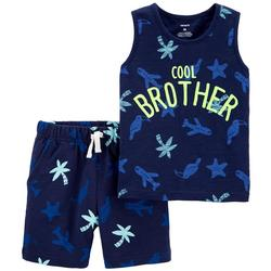 Baby Boys 2-pc. Cool Brother Short Set