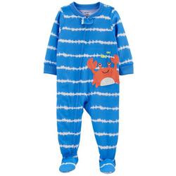 Baby Boys Tie Dye Stripe Crab Footed Pajamas