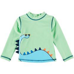 Little Me Baby Boys Dinosaur Raglan Rashguard