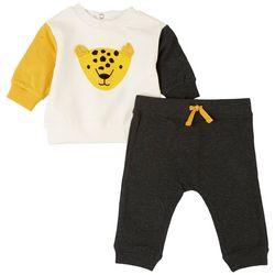 Focus Baby Boys 2-pc. Leopard Pant Set