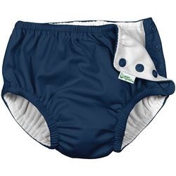 Green Sprouts Baby Boys Solid Snap Swim Diaper
