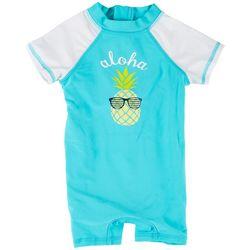 Floatimini Baby Boys Aloha Pineapple Rashguard Swimsuit