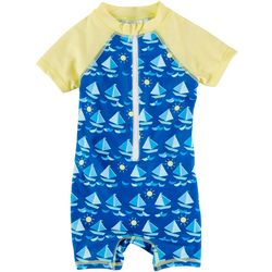 Floatimini Baby Boys Sailboat Rashguard Swimsuit