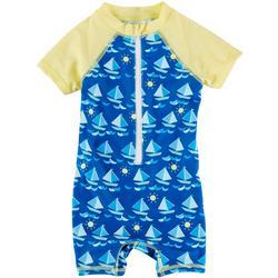Baby Boys Sailboat Rashguard Swimsuit
