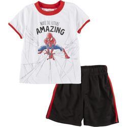 Baby Boys 2-pc. Make The Future Amazing Short Set