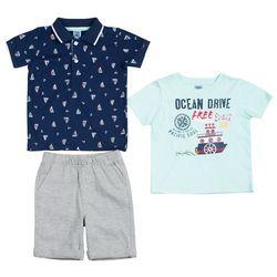Little Lad Baby Boys 3-pc. Sailboat & Anchor Shorts Set