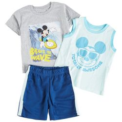 Mickey Mouse Baby Boys 3-pc. Brave The Wave