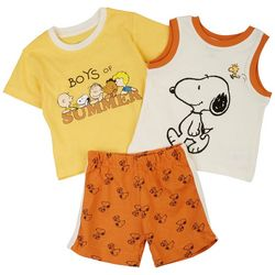 Peanuts Baby Boys 3-pc. Boys Of Summer Short Set