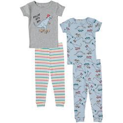 Toddler Boys 4-pc. Dino Pajama Set