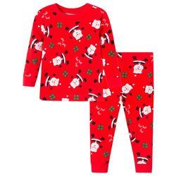 Little Me Baby Boys 2-pc. Santa Claus Pajama Set