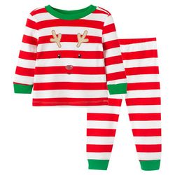 Little Me Toddler Boys 2-pc. Reindeer Stripe Pajama Set