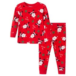 Little Me Toddler Boys 2-pc. Santa Claus Pajama Set