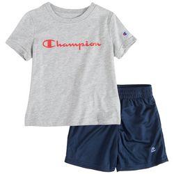 Champion Toddler Boys 2-pc. Logo Solid Short Set