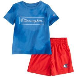 Toddler Boys 2-pc. Tie Dye Logo Print Short Set