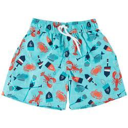 Toddler Boys Lobster Swim Trunks