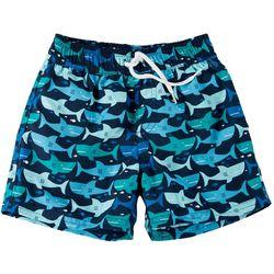 Floatimini Toddler Boys Shark Print Swim Trunks
