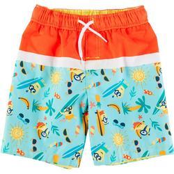Toddler Boys Minions Surf Swim Shorts
