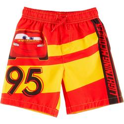 Toddler Boys Lightning McQueen Swim Shorts