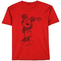 Hybrid Toddler Boys Mickey Mouse Sketch T-Shirt