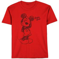 Toddler Boys Mickey Mouse Sketch T-Shirt