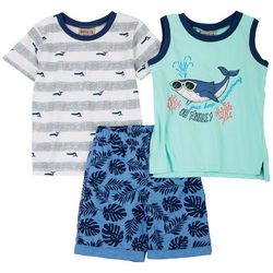 Brooklyn Boys Toddler Boys 3-pc. Oh Whale Shorts Set