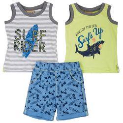 Brooklyn Boys Toddler Boys 3-pc. Surf Rider Shorts Set