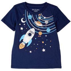 Dot & Zazz Toddler Boys Space Rocket Screen Print T-Shirt
