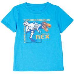Dot & Zazz Toddler Boys T-Rex Screen Print T-Shirt