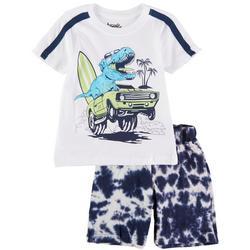 Toddler Boys 2-pc. Dino Surf Shorts Set